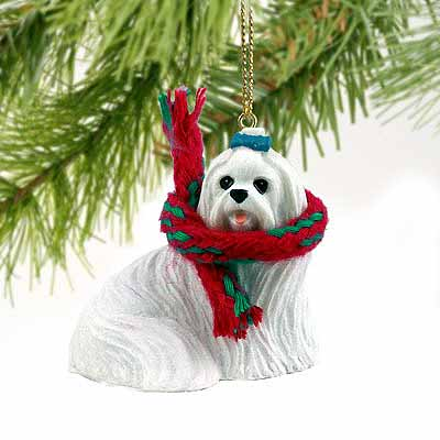 Maltese Tiny One Christmas Ornament