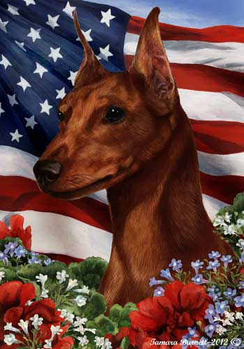 Min Pin House Flag Red Cropped