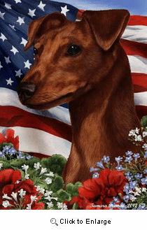 Min Pin House Flag Red Uncropped