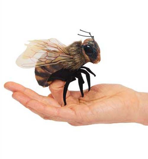 Bee (Mini) finger Puppet by Folkmanis