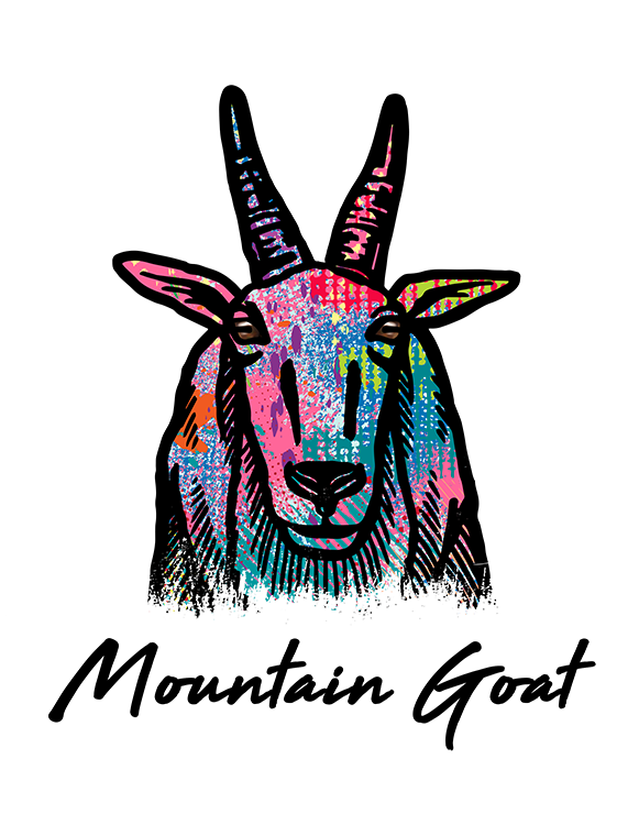 Mountain Goat T Shirt Colorful Abstract