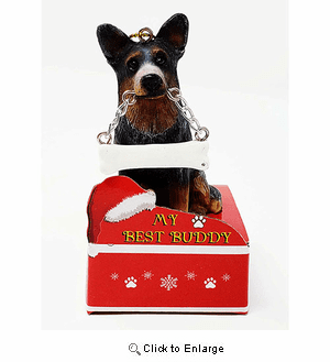 My Best Buddy Australian Cattle Dog Christmas Ornament