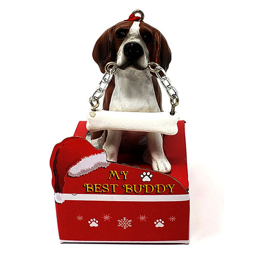 My Best Buddy Beagle Christmas Ornament