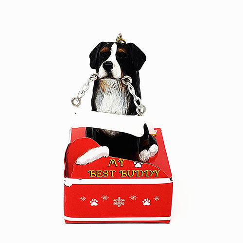 My Best Buddy Bernese Mountain Dog Christmas Ornament