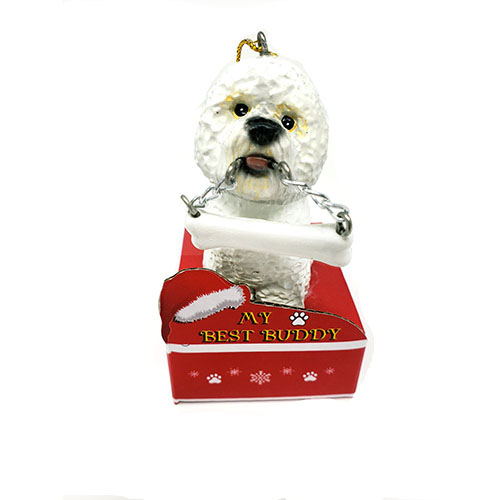 My Best Buddy Bichon Frise Christmas Ornament