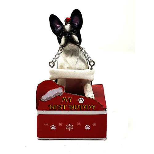 My Best Buddy Boston Terrier Christmas Ornament