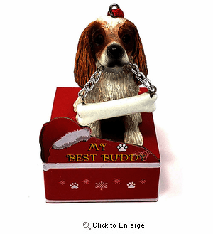 My Best Buddy Cavalier King Charles Christmas Ornament