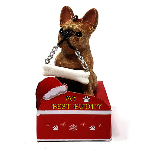 My Best Buddy French Bulldog Christmas Ornament
