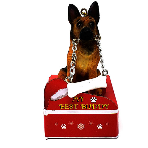 My Best Buddy German Shephard Christmas Ornament