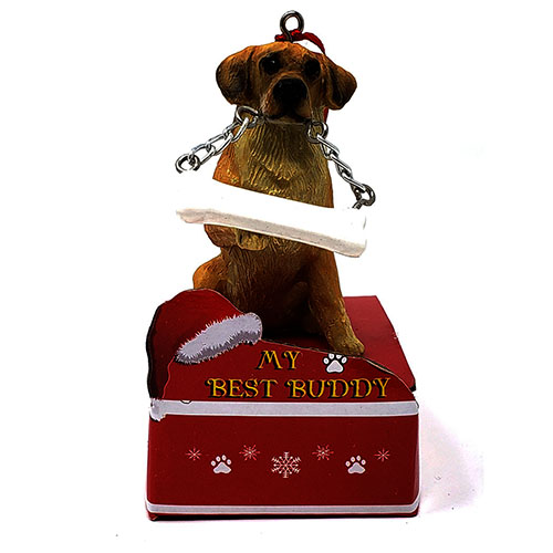 My Best Buddy Yellow Lab Christmas Ornament