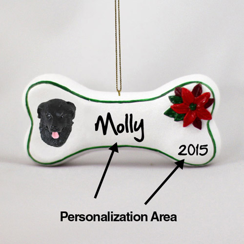 Newfoundland Personalized Dog Bone Christmas Ornament