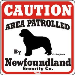 Newfoundland Caution Sign