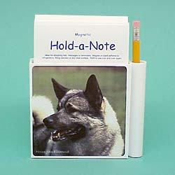 Norwegian Elkhound Hold-a-Note