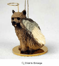 Norwich Terrier Christmas Ornament Angel