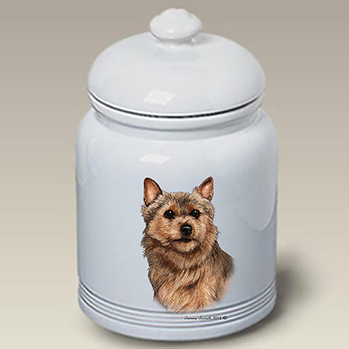 Norwich Terrier Treat Jar