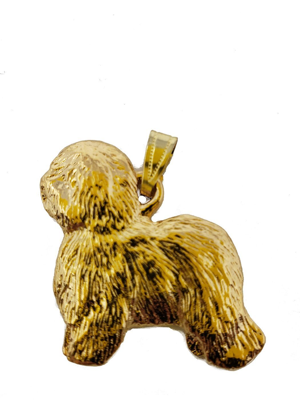 Old English Sheepdog 24K Gold Plated Pendant