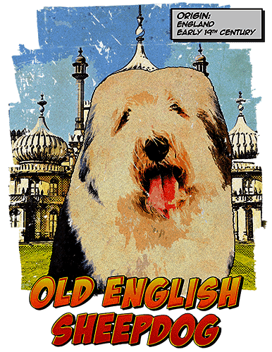 Old English Sheepdog T-Shirt Ancestry