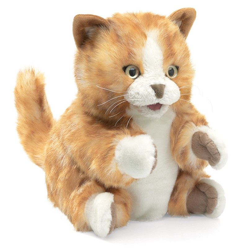 Orange Tabby Kitten Puppet 8