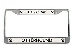 Otterhound License Plate Frame