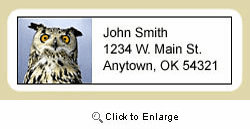 Owl Address Labels