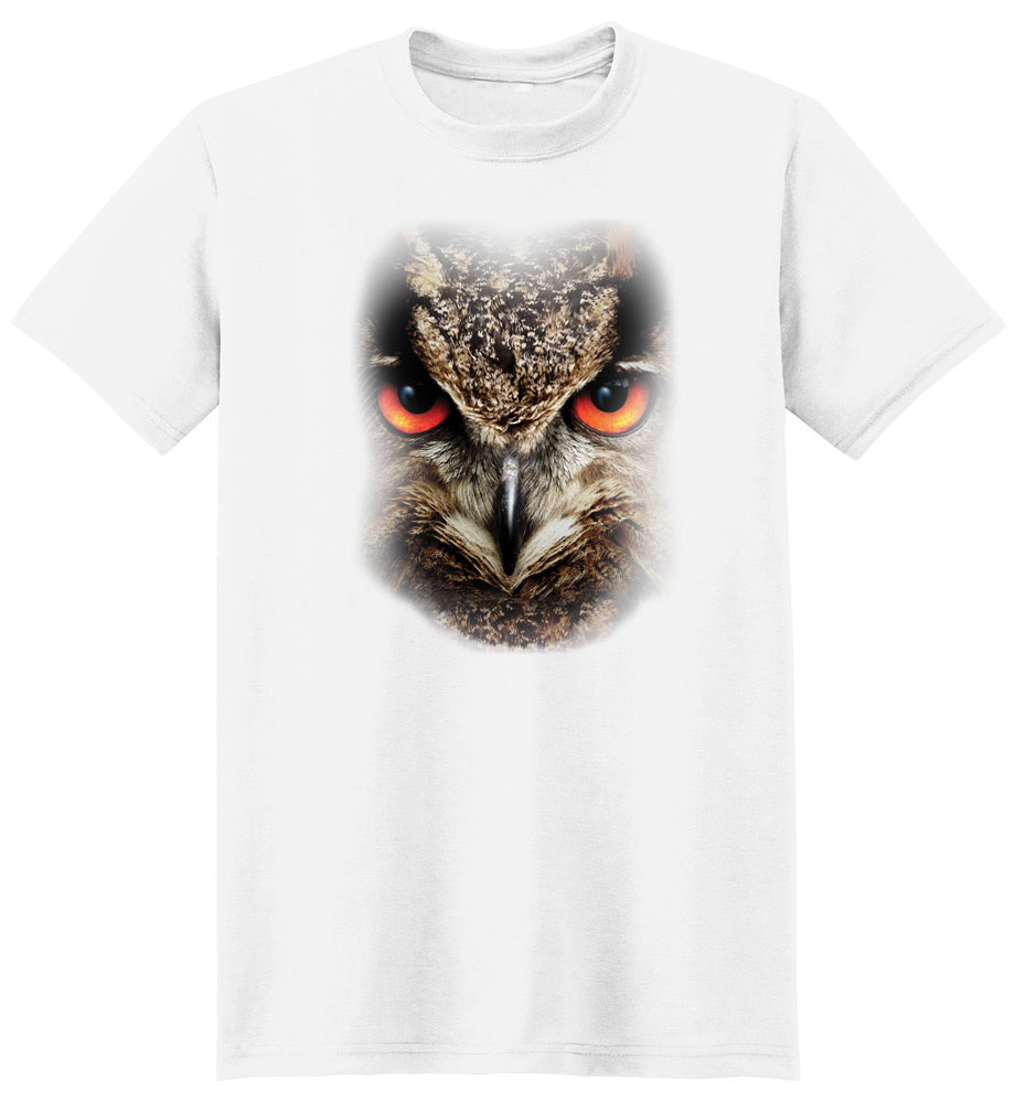 Owl T Shirt Full Face