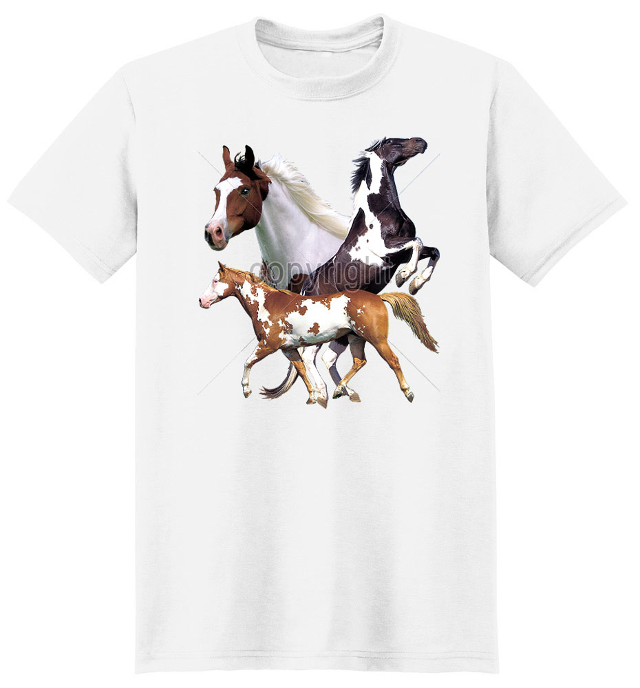 Paint Horse T Shirt Wild And Free