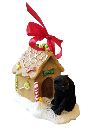 Panther Gingerbread House Christmas Ornament