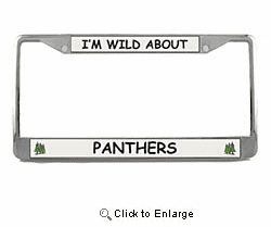 Panther License Plate Frame