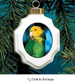 Parrot Christmas Ornament Porcelain