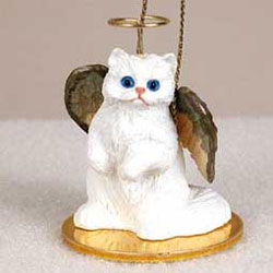Persian Cat Christmas Ornament Angel