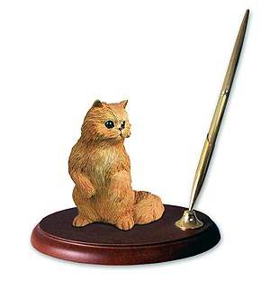 Persian Cat Pen Holder (Red)