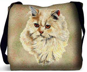 Persian Cat Tote Bag (Cream)