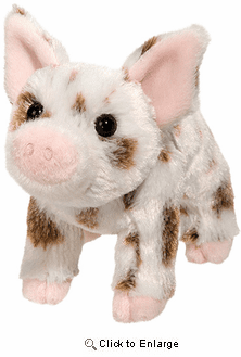 "Pig Plush Stuffed Animal ""Yogi"" 7"""