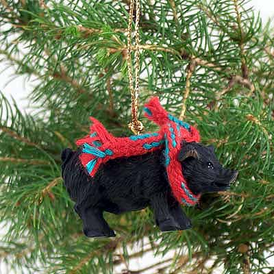 Pig Tiny One Christmas Ornament Black