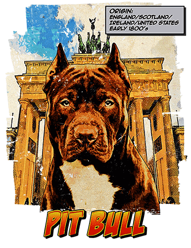 Pit Bull T-Shirt Ancestry Cropped