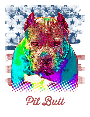 Pit Bull T Shirt Cropped American Flag