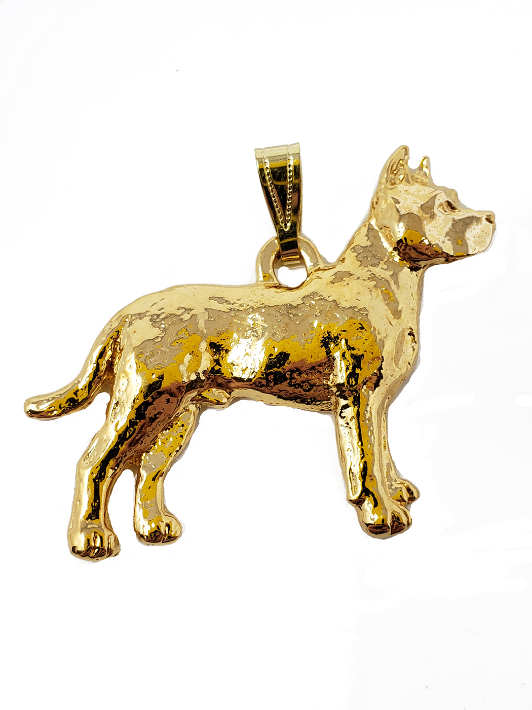 Pit Bull Terrier 24K Gold Plated Pendant