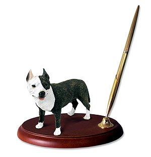 Pit Bull Terrier Pen Holder