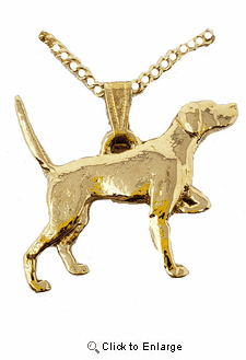 Pointer 24K Gold Plated Pendant with Necklace