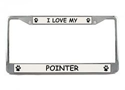 Pointer License Plate Frame
