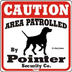 Pointer Caution Sign