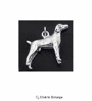 Pointer Sterling Silver Charm