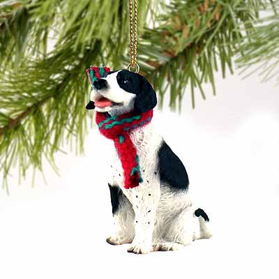 Pointer Tiny One Christmas Ornament Black-White