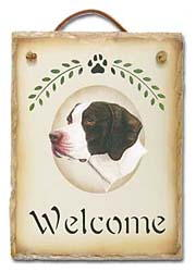 Pointer Slate Welcome Sign