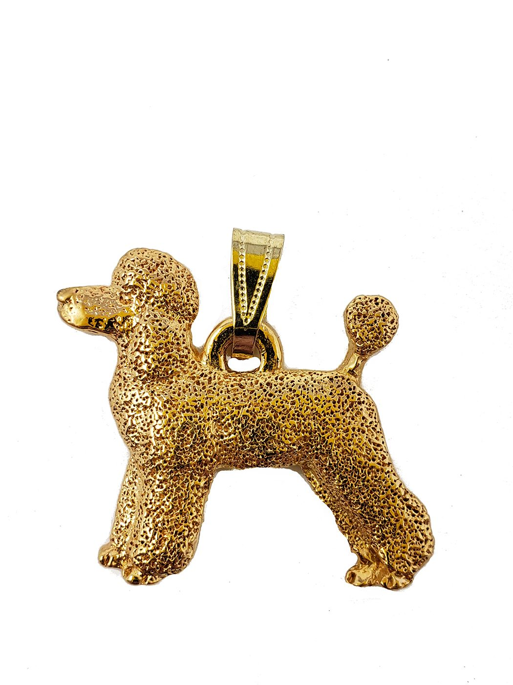 Poodle 24K Gold Plated Pendant