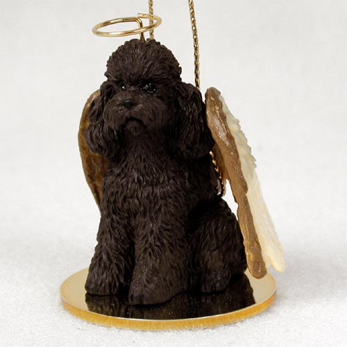 Poodle Angel Ornament Chocolate Sport Cut