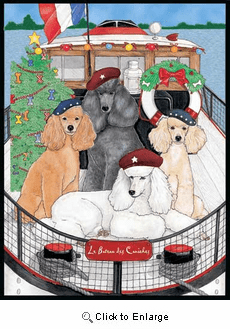 Poodle Christmas Cards