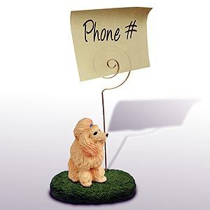 Poodle Note Holder (Apricot)