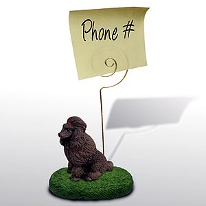 Poodle Note Holder (Chocolate)