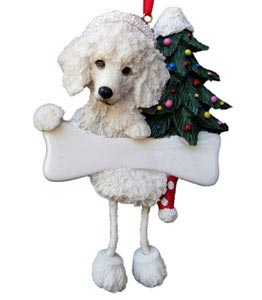 Poodle Christmas Tree Ornament - Personalize